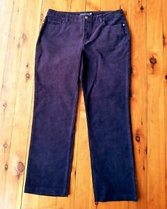 SPORTSCRAFT-Deep-Plum-Purple-Stretch-Corduroy-Pants-Size-13