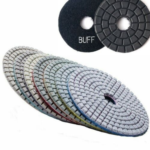 "5"" Diamond Polishing Pad Finishing Buff 7+1 Grante glass marble fabrication tile"