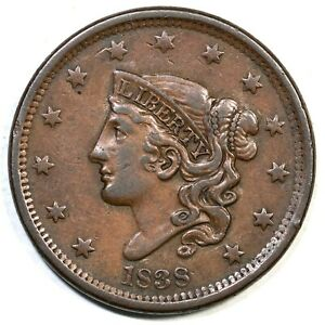 1838-N-5-Matron-or-Coronet-Head-Large-Cent-Coin-1c