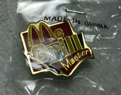 Mcdonalds McGrill Employee Hat Pin Lapel Tac Group II Grill Master