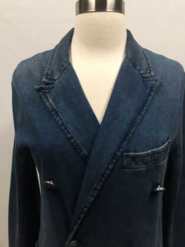 Nautisk Ralph 4 Knap Sz Look Denim Lauren Polo Cotton Preppy Blazer Jacket wwaHC0xq
