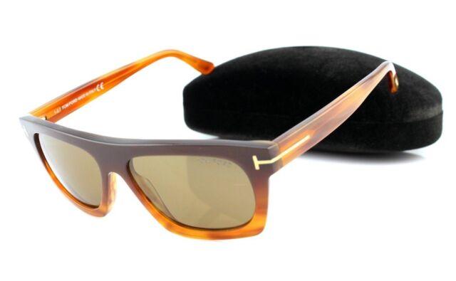 9a9906a00f RARE NEW Genuine TOM FORD ERNESTO-02 Dark Brown Sunglasses TF 592 FT 0592  50E