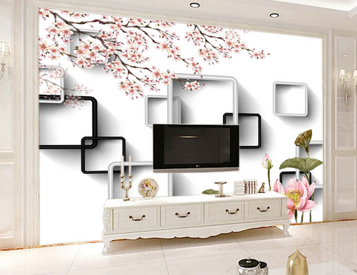 3D Mode Lotus Muster 432 Tapete Tapeten Mauer Foto Familie Tapete Wandgemälde