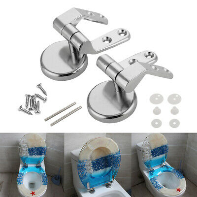 Zinc Alloy Replacement Toilet Seat Hinges Mountings Set Bathroom Accessories FL