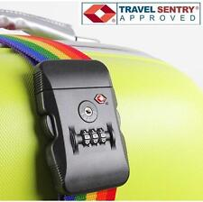 Jasit TSA Accepted Luggage Suitcase Travel Strap Belt + 3 Dial LOCK - RAINBOW