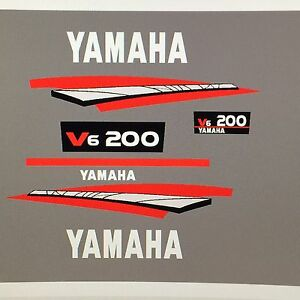 Yamaha 200hp 2-Stroke Outboard Decal Kit - two stroke Marine Vinyl decals