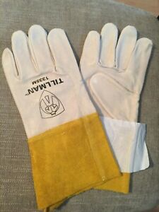 "Size SM-XL Tillman 1338 Top Grain Goatskin TIG Welding Gloves with 4/"" Cuff"