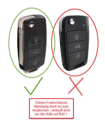 1x pour vw seat funk clé clés de voiture Housse étui Housse de protection bleu