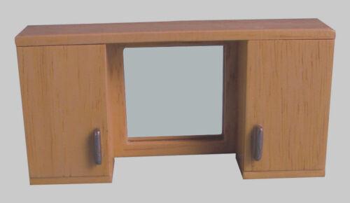 Casa De Muñecas Muebles unidad De Pared Con Espejo En 12 Escala
