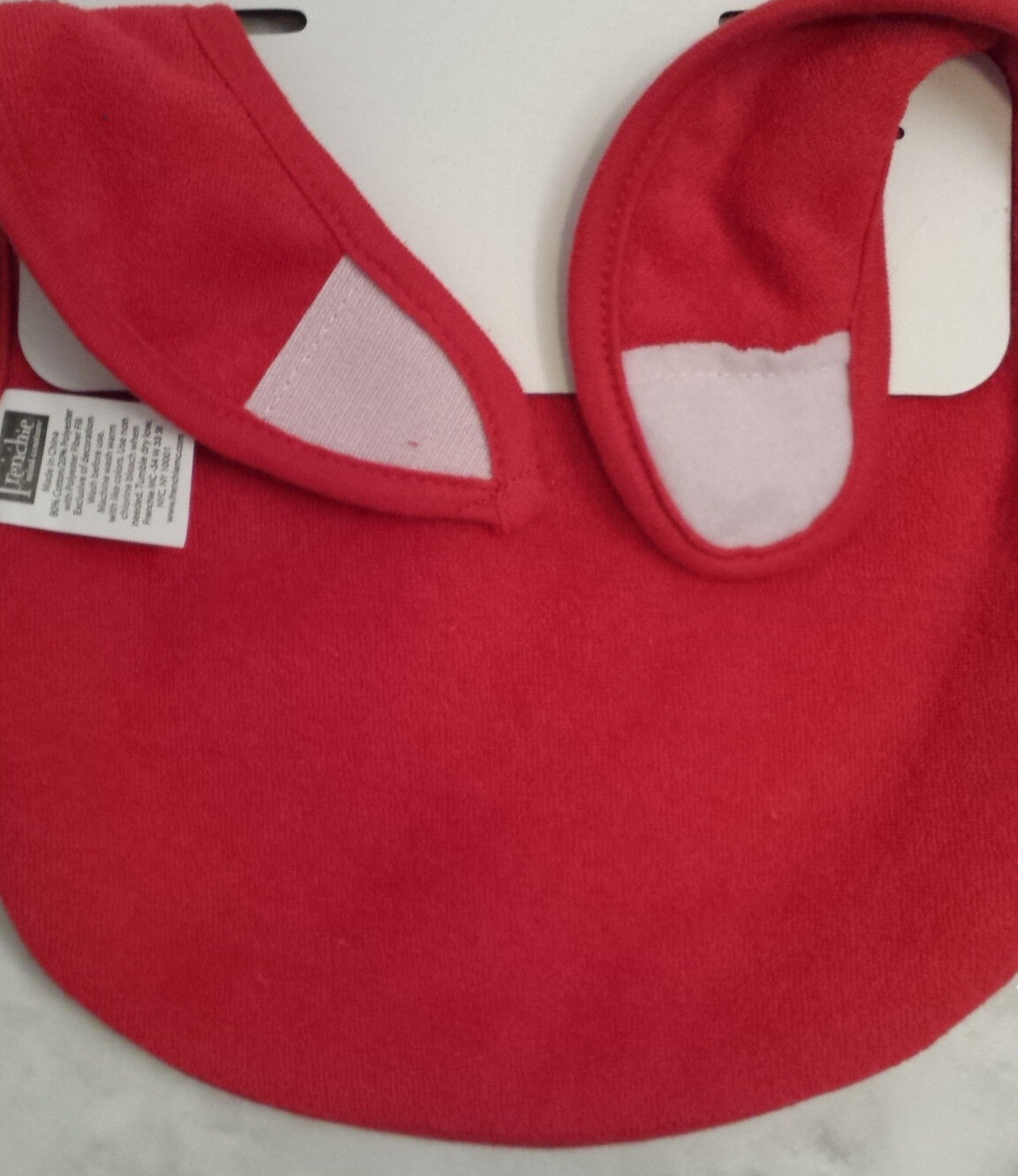 """Frenchie Red White And Blue /""""Born In The USA/"""" Baby Bib Feeder Bib"""