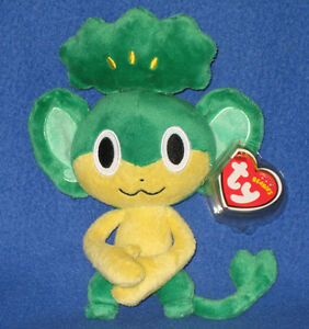 TY PANSAGE the POKEMON BEANIE BABY - MINT with MINT TAGS -  UK EXCLUSIVE