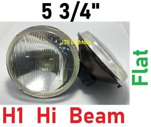 "1pr 5 3/4"" Semi Sealed Inner Flat Headlights Ford Fairmont Escort Mustang Mach 1"