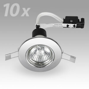 10-x-Modern-Chrome-GU10-Recessed-Ceiling-Spot-Light-Downlights-Downlight-Lights