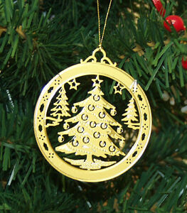 image is loading personalized christmas tree high polished brass christmas ornament