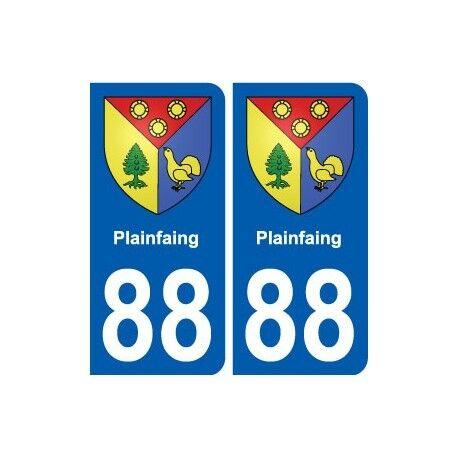 88 Plainfaing blason autocollant plaque stickers ville droits