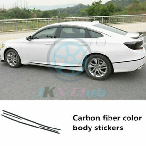 4Pcs Red Car Body Side Moulding Guard Stickers Trim For Honda Accord 2018-2020