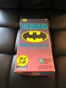 Vintage-Painted-Batman-Metal-Figurine-Toy-Batman-Joke-Set-Mayfair-Games-Inc-56A