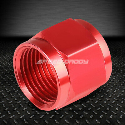 "Fit Aluminum//Steel Hard Line Red 6-An 3//8/"" Tubing Sleeve Nut Flare Fitting"