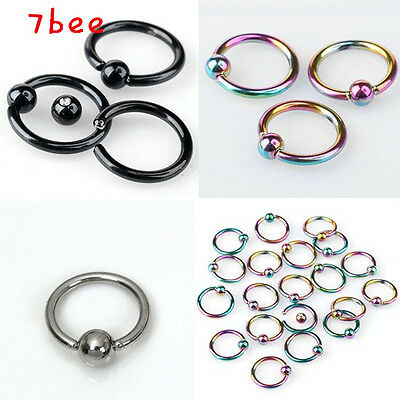 16G 10pcs Punk Stainless Steel Nose Hoop Ring Earring Body Piercing Jewelry Gift