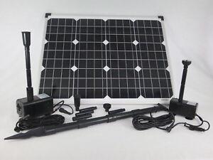 50 W solaire Set pompe avec 2 POMPE étang plongée étang de jardin ...