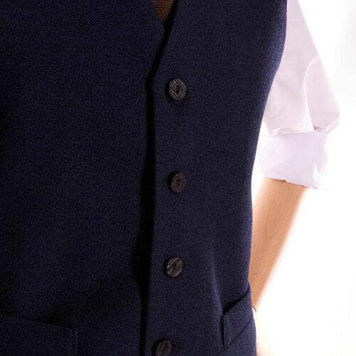 5 Button Waistcoat Men/'s Scottish Navy Blue Wool Argyle Kilt Jacket