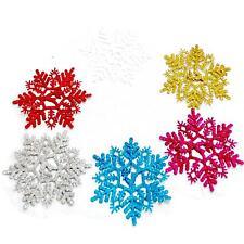 **frohe Weihnachten** Schneeflocke in viele Farben 6 Stück