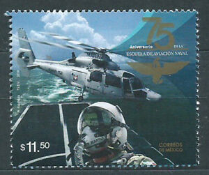 Mexico Mail 2018 Yvert 3126 MNH 75º School Of Aviación. Plane