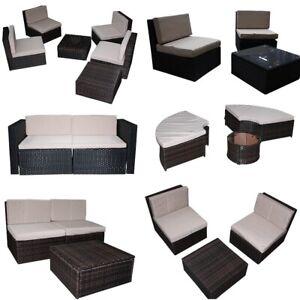 Détails sur Poly Rotin Mobilier de jardin mobilier rotin Salon de jardin  Ensemble de sièges salon lounge- afficher le titre d\'origine