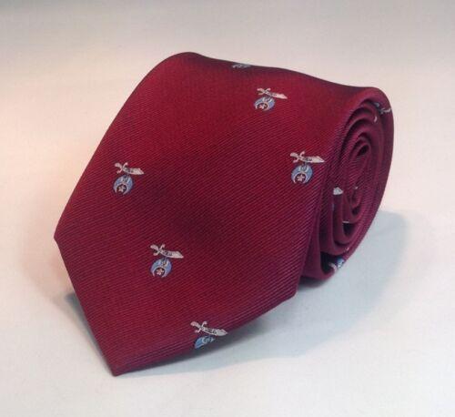 Shriner Scimitar /& Crescent Woven Necktie Maroon SSC-NT-M