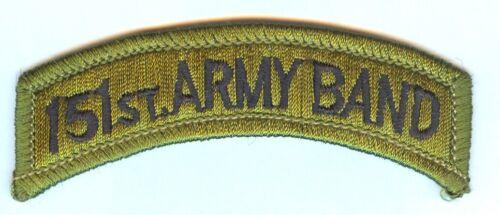 - OLIVE GREEN SUBDUED 3d Design AL ARNG - MINT 151st ARMY BAND Shoulder Tab