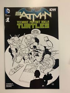 DC BATMAN/TEENAGE MUTANT NINJA TURTLES #1 OF 6 PLANET COMICS B&W COVER : VF