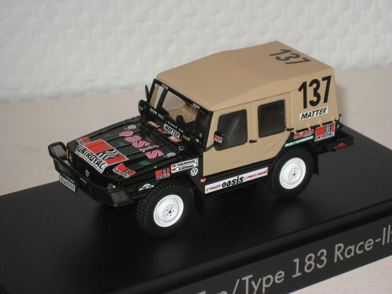 VW Iltis Type 183 Race Race Race black neu &  OVP 183.099.300.K1W 359be5