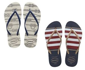 6a278ef0b1fd6b Image is loading WOMENS-HAVAIANAS-034-SLIM-NAUTICAL-034-FLIP-FLOPS-