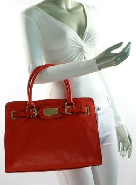 af376b833327 Michael Kors Hamilton Large EW Leather Tote 35f0ghmt3l Mandarin for ...