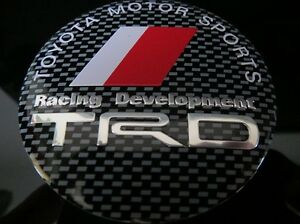 TOYOTA-TRD-WHEEL-RIMS-CENTRE-CAP-HUB-COVER-DECAL-STICKER-AURION-COROLLA-CAMRY-86