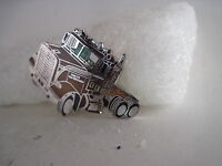 19?? Vintage White Tandem Truck Cloisonne Emblem(xb554)
