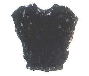 Cherokee-Girls-Ebony-Short-Sleeve-Lace-Top-Shirt-Size-Medium-7-8-NWT