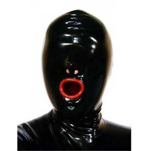 Latex condom hood