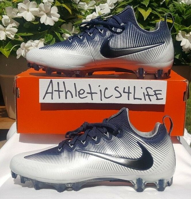 a5a20bef4 NIKE VAPOR UNTOUCHABLE PRO FOOTBALL CLEATS SIZE 11 NAVY blueE WHITE 833385- 401