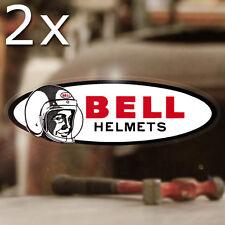 2x Stück Bell Helmets Aufkleber Sticker Autocollante Helm Hot Rod Bobber 145mm