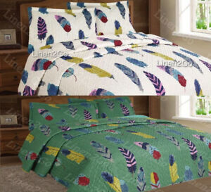3 Piece Dream Catcher Quilt Set Western Bedspread Comforter Style Bedding Set