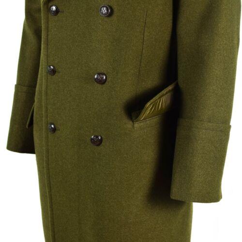 Genuine Polish army Wool Overcoat Olive OD khaki military officer heavy coat NEW