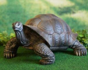 Figur Schildkröte Landschildkröte Gartenfigur lebensecht Deko Tierfigur Skulptu