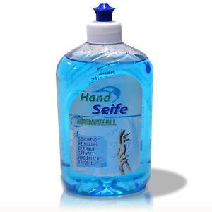 5x500ml-Antibakteriell-Handseife-Fluessigseife-Seifenspender-Desinfektions-Seife