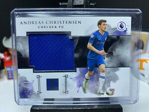 2019-20 Panini Impeccable Soccer ANDREAS CHRISTENSEN Match Worn Kit Patch 25/99
