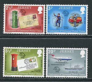 JERSEY-MNH-UMM-TIMBRO-SET-1974-SG-107-110-UNIONE-POSTALE-UNIVERSALE-UPU