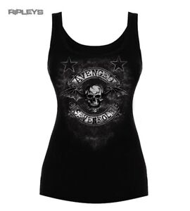 Official-Ladies-T-Shirt-Vest-Top-Avenged-Sevenfold-Stars-Flourish-All-Sizes