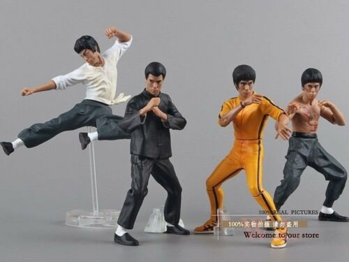 Free Shipping Cool Bruce Lee Kung Fu PVC Action Figures Collection Toys 4pcs//set
