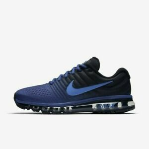 Buy New Air Max 2017 Black Royal Blue White Running Shoes
