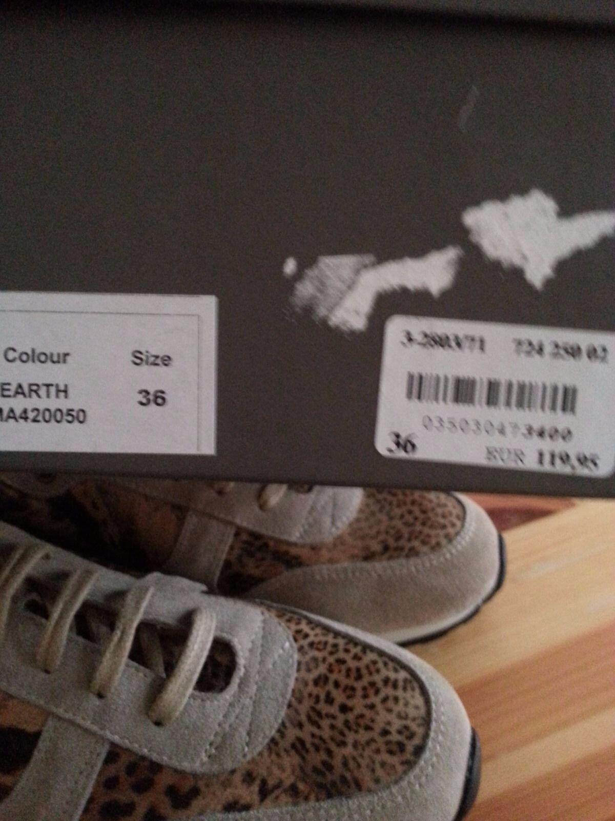 Brax Damen Sneaker Schuhe  Gr 36 Animal Print  echt Leder Neu mit Karton NP